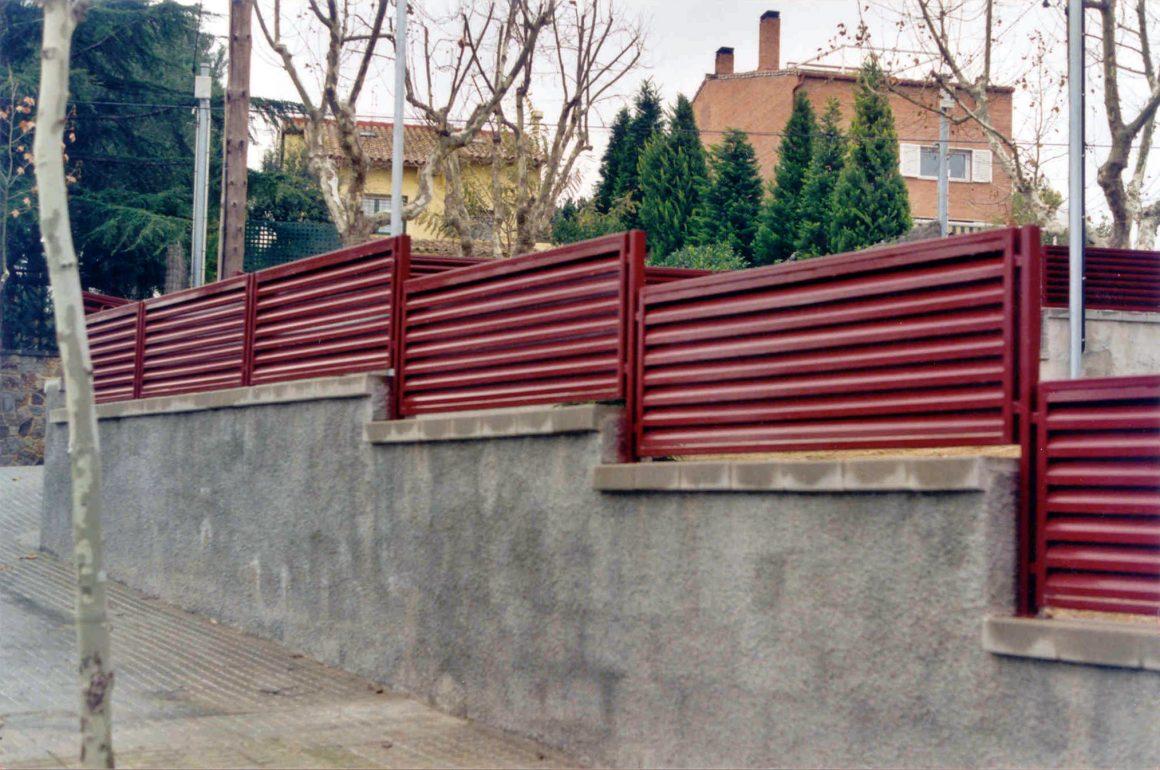 Barandas exterior pared