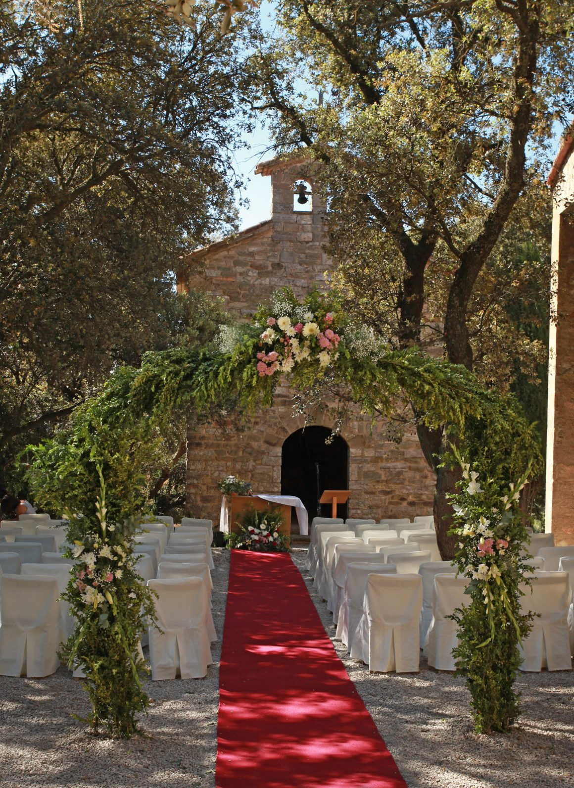 Soportes florales bodas