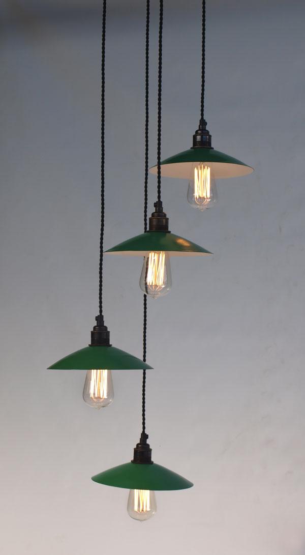 Lámpara modelo Praga con pantallas