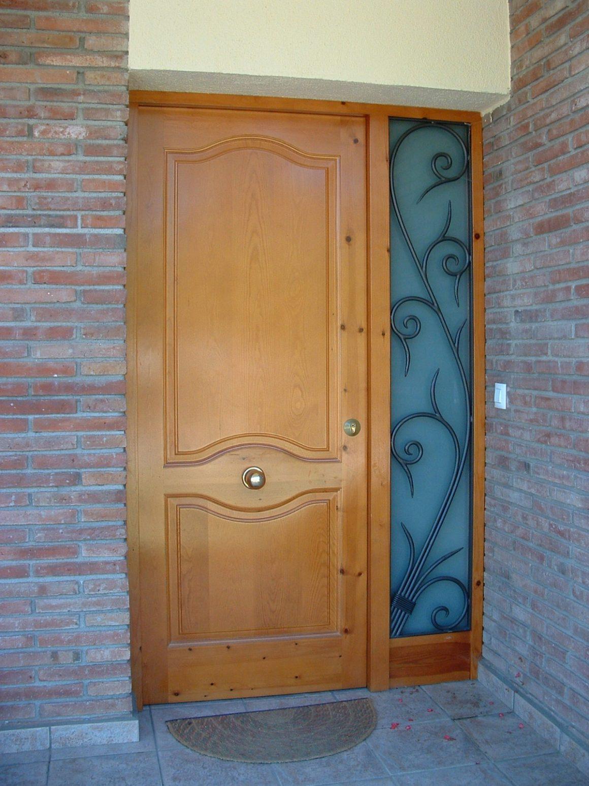 Detalle reja puerta