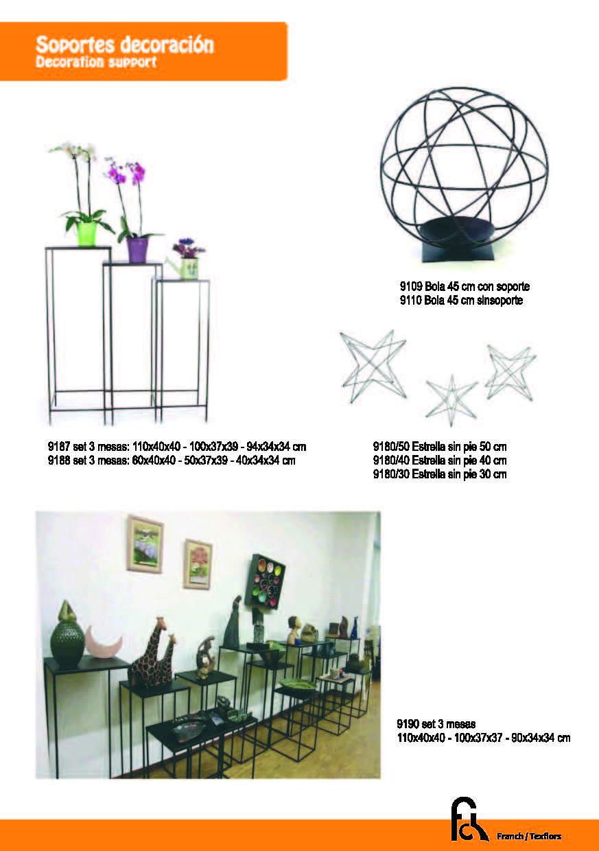 Soportes decoración modelos diferentes