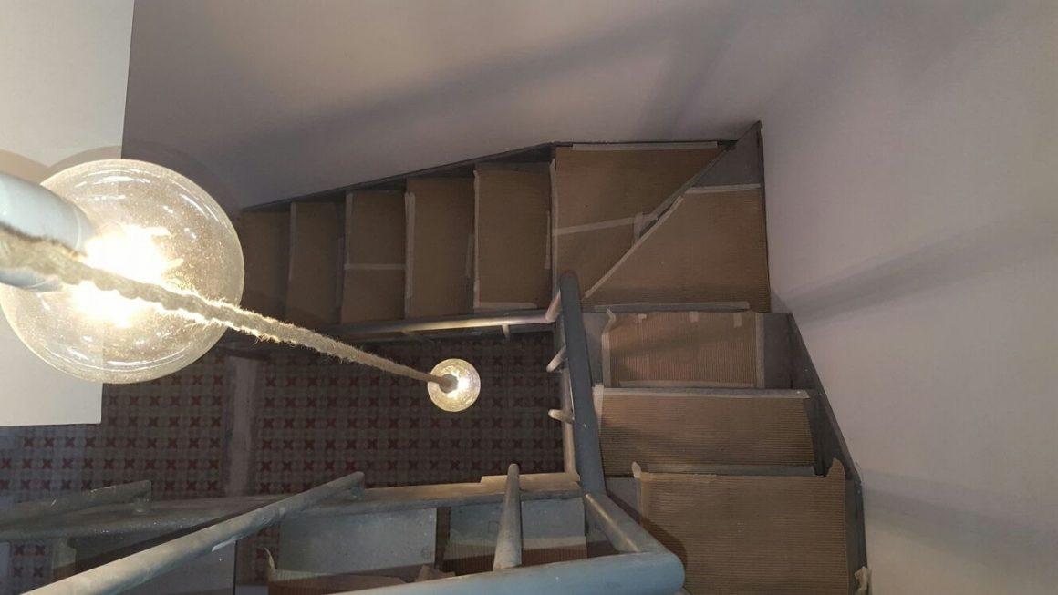 Escalera pared